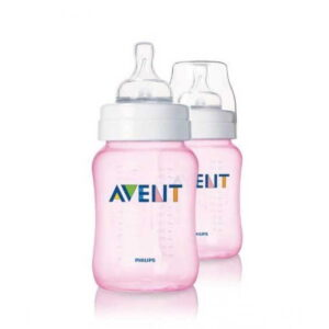 Philips Avent CLASSIC PP Bottle 260 ML PK2 (Pink) SCF684/62