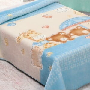 Pierre Cardin Teddy Bear Baby Blanket Blue