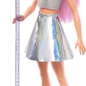 Barbie Pop Star Doll, Pink Hair with Microphone