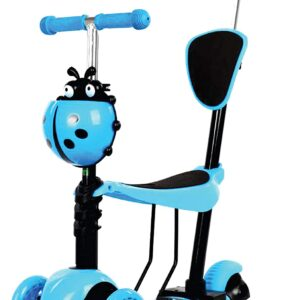 5-in-1 scooter. Adjustable scooter for toddlers with flashing wheel