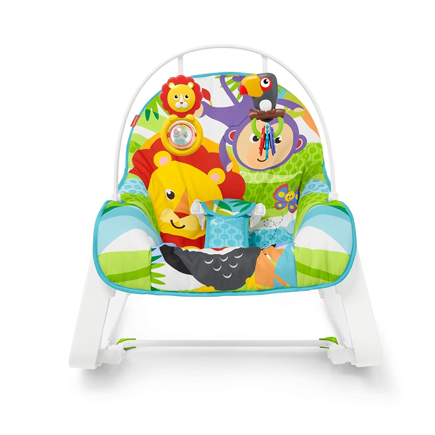 Infant-To-Toddler Rocker, Green Jungle with Removable Bar